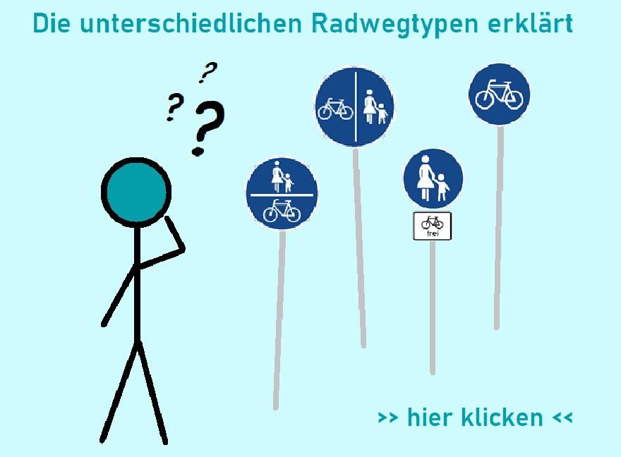 Die unterschiedlichen Radwegtypen erklärt